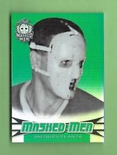 JACQUES PLANTE 2018 LEAF MASKED MEN GREEN PARALLEL #11 MONTREAL SER #d 4/5