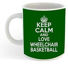 Keep Calm And Love Wheelchair Basketball  Mug - Green