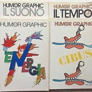 Humor graphic Lotto 4 riviste 27 28 29 31 Marco Rostagno Vignette Satira Grafica