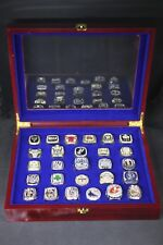 27 NBA Championship Rings Size 11 (1991 - 2017 years) In Box Collections