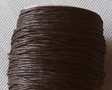 10 yards Waxed Cotton Cord Necklace 1mm Dark Brown String Bracelet Rope Braided