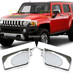 2006-2010 For HUMMER H3/ 2009-2010 H3T ABS Chrome Engine exhaust cover Trim 2pcs