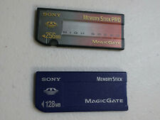 1- 256MB Sony MagicGate Memory Stick Pro and 1- 128MB Sony MagicGate Memory