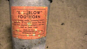 Antique Vintage E Z Blow fog horn