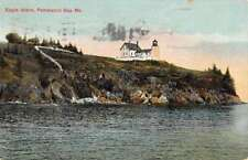 Penobscot Bay Maine Eagle Island Waterfront Antique Postcard K84113