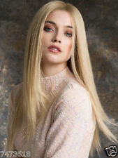 100% Real Hair! Stylish Women Blonde Medium Natural Straight Wig Hair