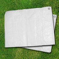 Strengthened Tarpaulin - Waterproof Heavy Duty WHITE TARP SHEET - HQ 90 g/sm