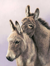 Donkeys, Ass, limited edition print by Mary Herbert. Cuddle Monsters