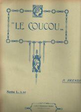 Spartito Musicale Le Coucou di Arensky Bodro Editore Copertina Illustrata 1900