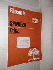 ETICA Benedetto Spinoza Antonio Corsano Signorelli 1967 saggistica filosofia di