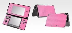 Pink Carbon Fiber Vinyl Decal Skin Sticker Case for Nintendo 3DS