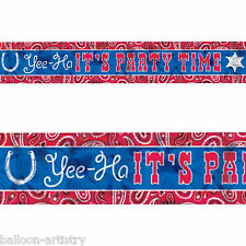 25ft Wild West Bandana Western Yee-Ha It's Party Time Foil Banner Decoration