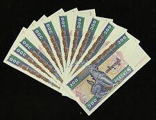 10 Pieces Myanmar Burma 100 Kyats BANKNOTES UNC