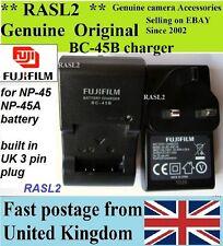 Genuine FUJIFILM Charger,BC-45B  NP-45A  JX210 JX530 XP10 XP11 Z500 J250 Z33 Z37