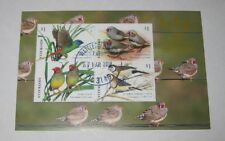 2018 Australia Canberra Stamp&Coins Show Australian Finches Mini-sheet Cancelled