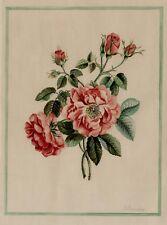 AQUARELLE sur papier. Fleurs, signée D Bourdon. Ac172