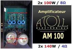 ► Atoll AM100 Amplificateur de Puissance Haut de Gamme Made in France 2x100W 8Ω
