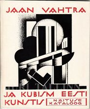 JAAN VAHTRA and CUBISM in Estonian Art Illustrated EXHIBITION CATALOG 1972 -RARE
