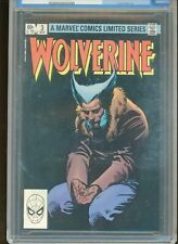 WOLVERINE LIMITED SERIES #3 CGC GRADED NM/MT 9.8 WHITE PAGES 1982 FRANK MILLER