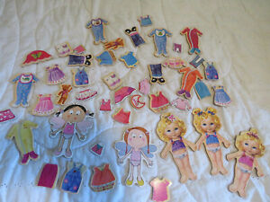 Hard Board Magnet Dolls with Magnetic Clothes