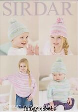 Sirdar 4674 Knitting Pattern Poncho With Sleeves and Hat Snuggly Baby Crofter DK