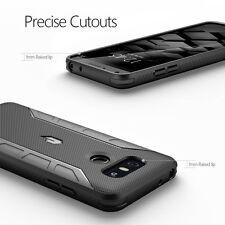 [20pcs/lot] For LG G6 Case Black Poetic【Karbon Shield】Carbon Fiber Texture Cover