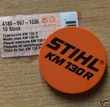 Genuine STIHL KM130R Modelo Placa Placa 4180 967 1536 seguimiento post