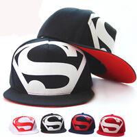 Unisex Men Superman Baseball Cap Snapback Hip-hop Dance Hat Adjustable Sun Visor