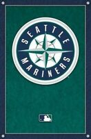 SEATTLE MARINERS ~ LOGO 22x34 POSTER MLB Baseball NEW/ROLLED!