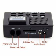 Digital Telephone Call LCD Display Phone SD Card Slot Voice Home Recorder