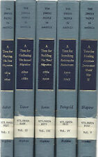 THE JEWISH PEOPLE IN AMERICA BY ELI FABER, 5 VOLUMES COMPLETE SET, 1992
