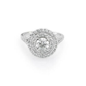 1.30 Carat Round Shape Diamond Engagement Rings 14Kt Solid White Gold Size 5 6 7