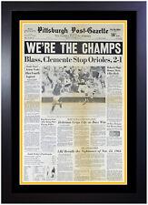 🏆 Pittsburgh Pirates 1971 World Series Champions Original Newspaper Framed! 🏆