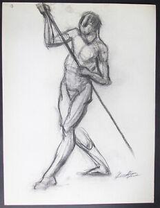 1940's Nude STEWART KLONIS Modernist Students League N.Y.  Male