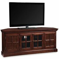 """Leick Furniture Riley Holliday 65"""" TV Console in Heartwood Cherry"""