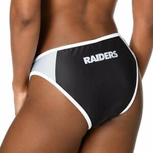Forever Collectibles Women's Oakland Raiders Team Logo Swim Suit Bikini Bottom