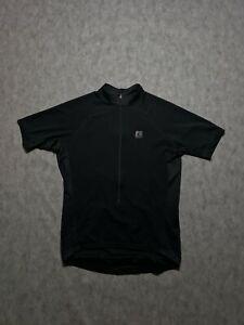 Cannondale Vertex full Black 1/2 Zip Bike Cycling Jersey USA Mens sz L 3 pockets