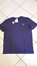 T-shirt uomo PUMA in cotone girocollo blu