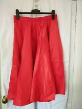 Satin Red Skirt 75 cm length, waist 40 cm