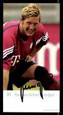 Autogrammkarte *BASTIAN SCHWEINSTEIGER* FC Bayern München Werbkarte Funny Frisch