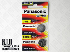 2 Pieces New in Package Panasonic CR1632 1632 ECR1632 Coin Cell Battery 3V