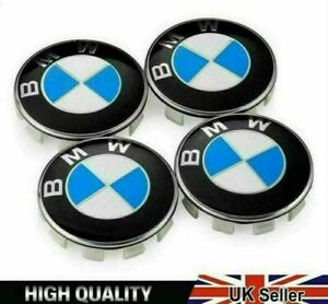 4PCS 68mm Wheel Centre Caps Fits BMW Blue White Fits Most 1 3 5 7 Series new