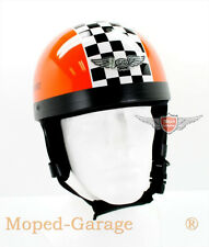 Moto Mobylette Cyclomoteur Scooter Classic Oldtimer Mi-Casque Course Orange