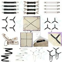 Elastic Bed Mattress Sheet Straps Clips Grippers Fasteners Suspender Holder New