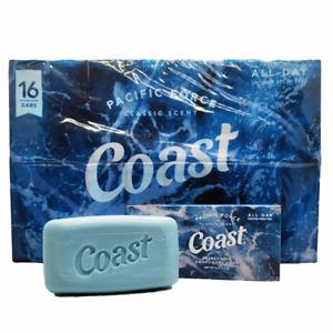 Coast Refreshing Deodorant Soap Bar - 16 Bars, Men's Soap, Men's Scent.
