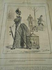Typo 1886 - Cas d'hydrophobie chiens en Cage pour la promenade