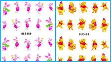 Disney Winnie the Pooh & Piglet Nail Art Sticker Decal Manicure Water Transfer
