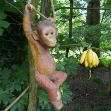 Orang -Utan am Seil 6 Affe Schimpanse Tierfigur Garten Affenfigur Affenbaby