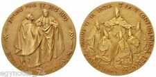 VATICAN , GOLD MEDAL OF POP PAUL VI COMMEMORATIVE HIS VISIT TO INDIA 1964 , RARE