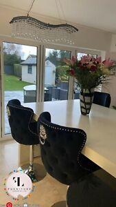 Valentino luxury lion knockerback barstools